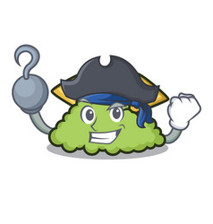 Pirate guacamole character cartoon style vector
