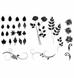 plants collection vector image vector image