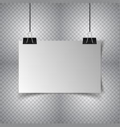 poster hanging on transparent background vector image