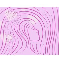 Pretty girls sketch vector