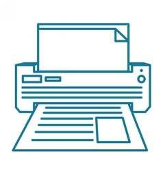 Printer linear vector image