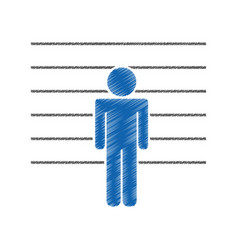 prisoner silhouette isolated icon vector image