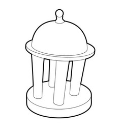 rotunda icon outline style vector image