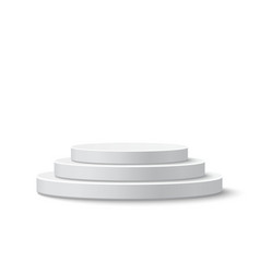 Round stage podium vector image