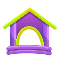 Rubber kid house icon cartoon style vector