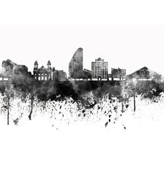 San Jose skyline in black watercolor on white vector