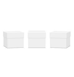 set square gift boxes mockups vector image