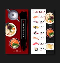 Sushi set menu for restaurant design template vector