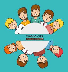 Teamwork business concept vector