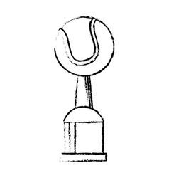 tennis award cup sport win vector image