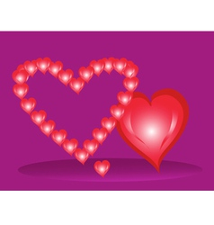 Three hearts by St Valentines Day vector