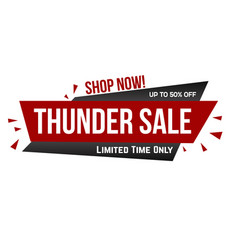 thunder sale banner design vector image