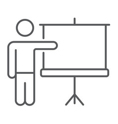 Training thin line icon e learning and education vector