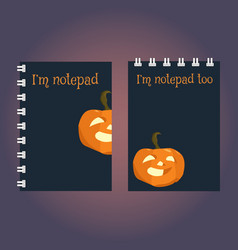 two templates of notebook or sketchbook cover vector image