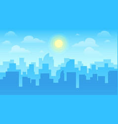 urban cityscape city architecture skyscrapers vector image