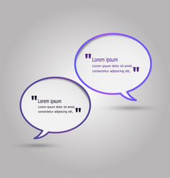 violet speech bubbles on gray background vector image
