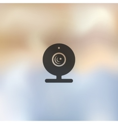 Webcam icon on blurred background vector