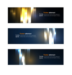 Website header or banner set abstract vector