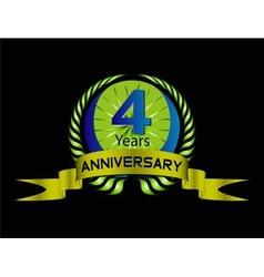 4 year birthday celebration 4th anniversaryset vector image vector image