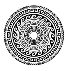 ancient greek round key pattern - meander art vector image vector image