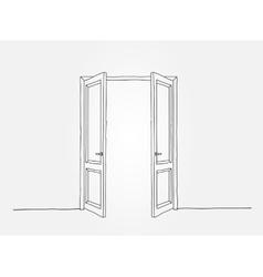 Black contour doors vector