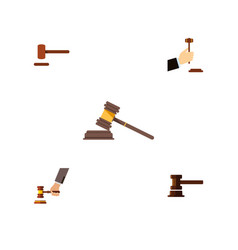 flat icon court set of crime law court and other vector image vector image