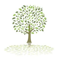 green summer tree vector image vector image
