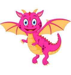 happy baby dragon cartoon vector image vector image