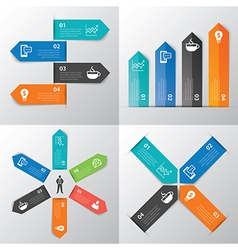 Paper tab infographic vector