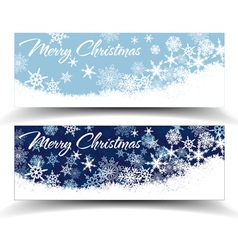 Snowflakes Christmas Web Banners vector image vector image