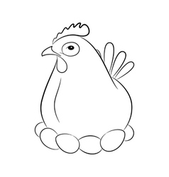 Stylized silhouette of a chicken vector image