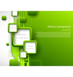 Abstract green brochure vector image vector image