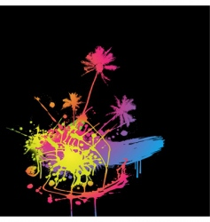 colored splash vector image vector image