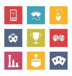 Colorful game icons set vector image vector image
