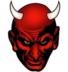 devil head vector image vector image