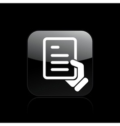 document handing icon vector image vector image