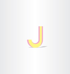 logo letter j yellow symbol design element vector image