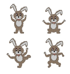 A funny hare doing morning exercises vector image