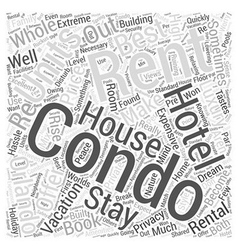 Renting Orlando Condos To Make The Most Out Of vector image vector image