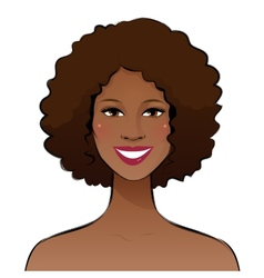 Smiling young woman vector image vector image