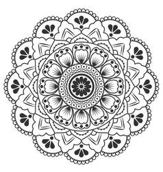thai round flower art design image vector image
