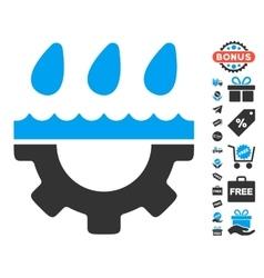 Water Gear Drops Icon With Free Bonus vector image vector image