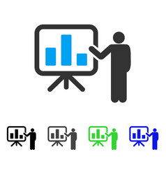 bar chart presentation flat icon vector image vector image