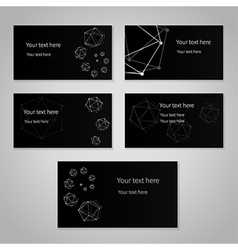 Black cards vector image