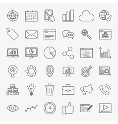 Development Line Icons Set vector image