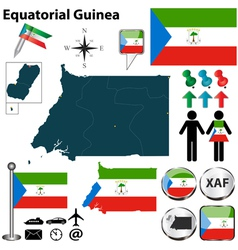 Equatorial Guinea map vector image vector image