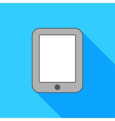 Ipad on blue background vector image
