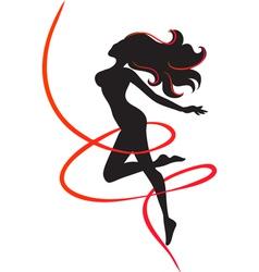 Slenderness Silhouette of slim girl vector image