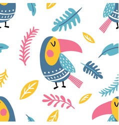 toucan pattern vector image vector image