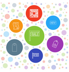 7 price icons vector image